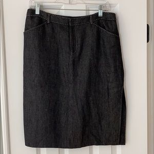 Ralph Lauren black denim slim pencil skirt. 10 EUC